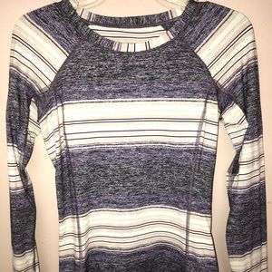 Lululemon long sleeve striped athletic shirt.